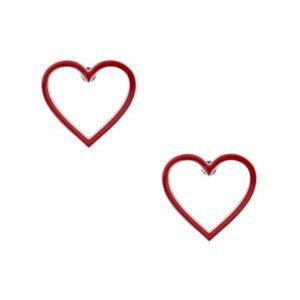 Brinco Metal Coração