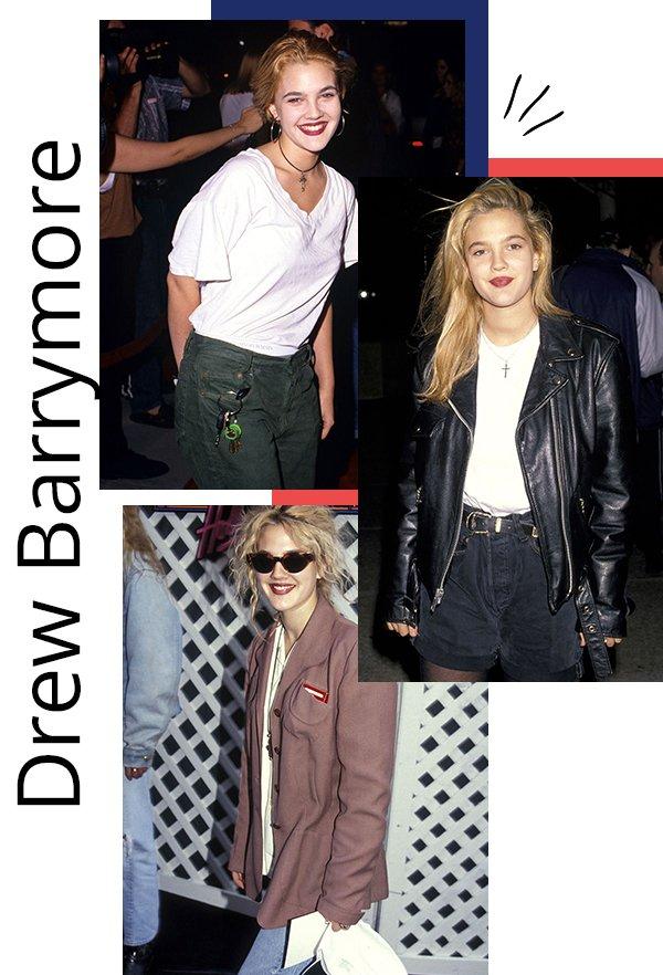 Drew Barrymore - anos 90 - anos 90 - inverno - celebs