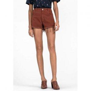 Shorts Em Tecido De Sarja De Algodão Na Base Quadradinho