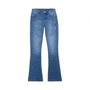 Calça Jeans Feminina Flare Com Soft Touch