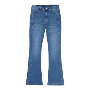 Calça Jeans Feminina Flare Petit Com Detalhe De Costura