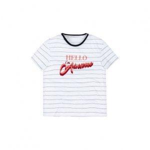 T-Shirt Em Malha Com Estampa Localizada
