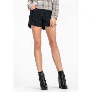 Shorts Em Sarja De Algodão Com Detalhes No Bolso Base Pin Up