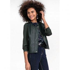 Jaqueta Em Malha Com Frente Em Material Sintético