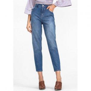 Calça Jeans De Algodão Na Modelagem Reta
