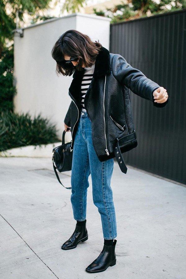 Angelica Bucci - jaqueta e calça - jaqueta de couro - outono/INVERNO - street style
