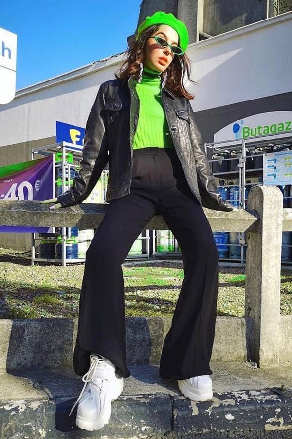 Barbara Malewicz - neon - dad sneaker - outono/INVERNO - street style
