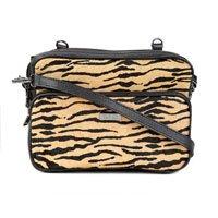 Bolsa Couro Santa Lolla Handbag Pelo Tigre Feminina - Amarelo e Preto