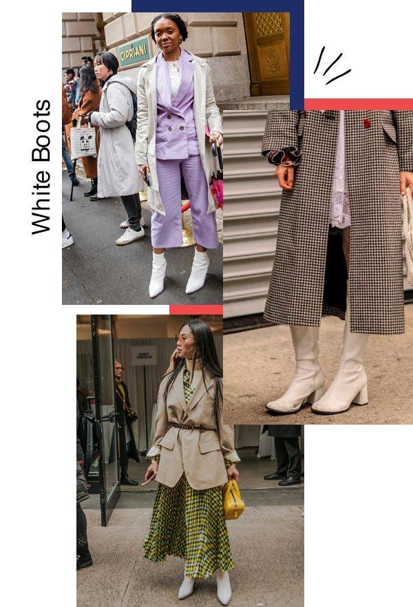 reprodução - bota - white boots - outono/INVERNO - NYFW