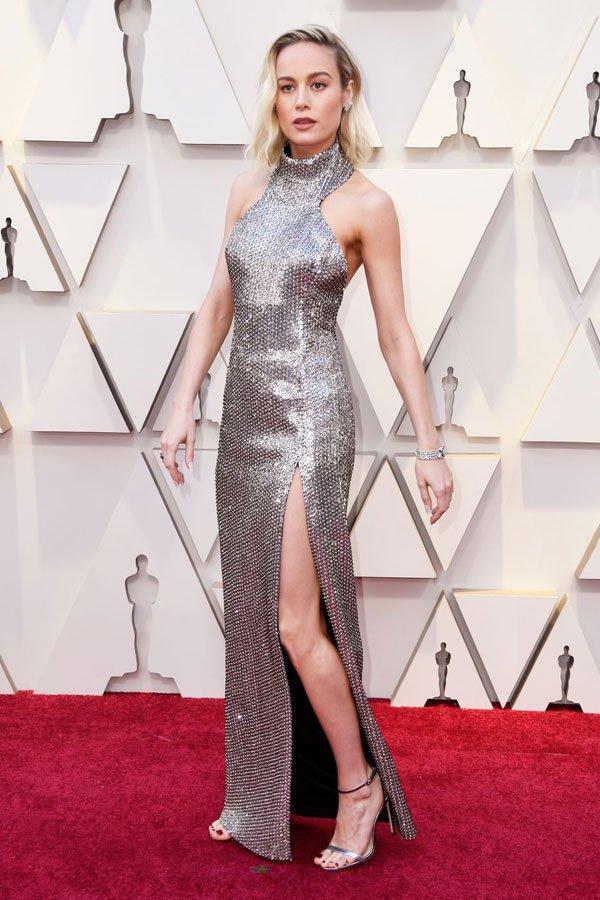 Brie Larson - vestido - celine - premiação - oscar 2019
