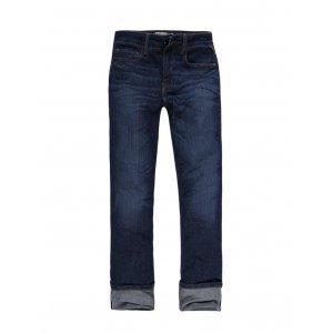 Calça Jeans Feminina Reta Com Barra Dobrada