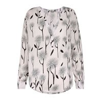 Blusa Feminina Decote V Floral