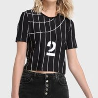 Camiseta Cropped Baseball