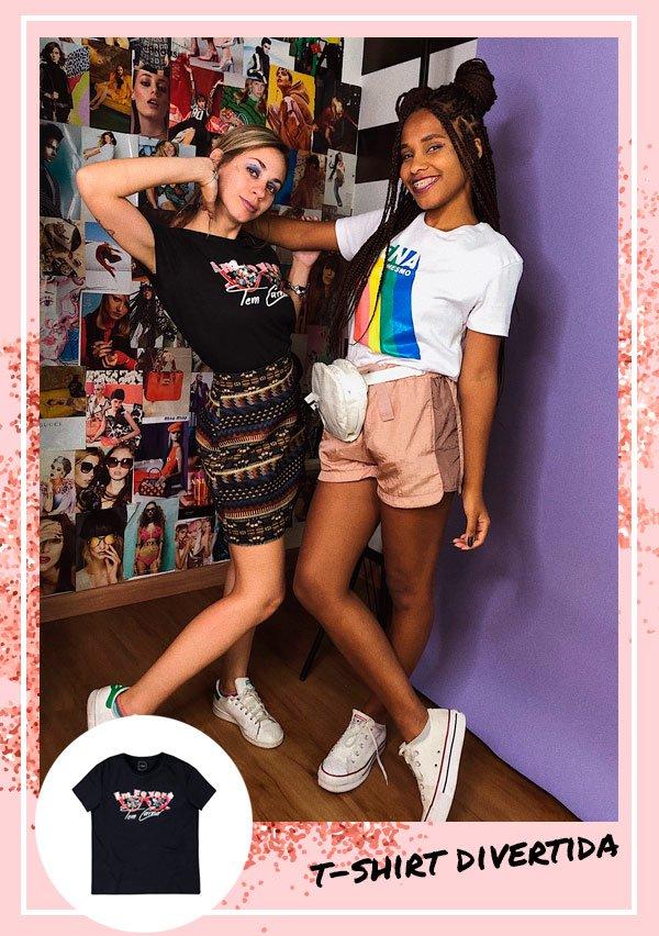 Larissa Cobra, Claudiana Ribeiro - t-shirt - carnaval - verão - street-style