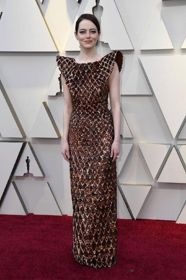 Emma Stone - vestido - Louis Vuitton - premiação - oscar 2019