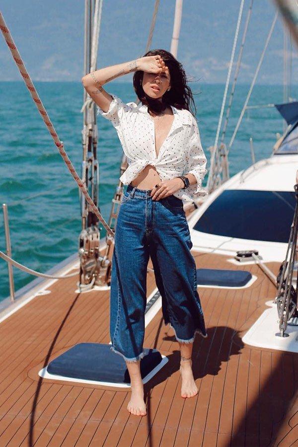 Fla Cávásotti - pantacourt jeans  - calça jeans - verão - street style