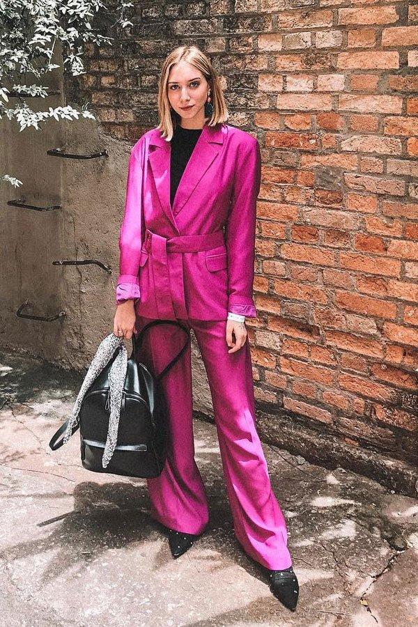 Gabriela Kassis - calça e blazer - terninho - inverno - street style