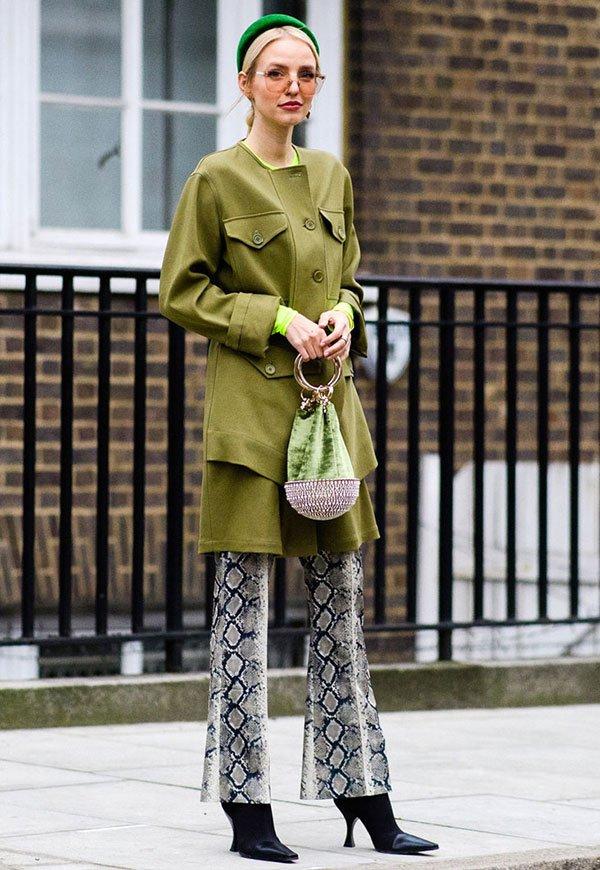 Leonie Hanne - verde - verde - inverno - street-style