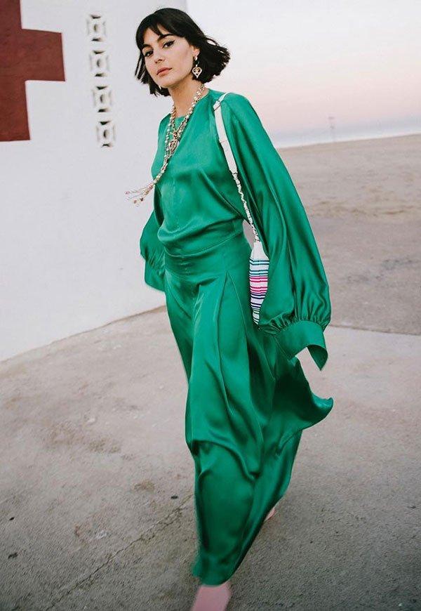 María Bernard - verde - verde - verão - street-style