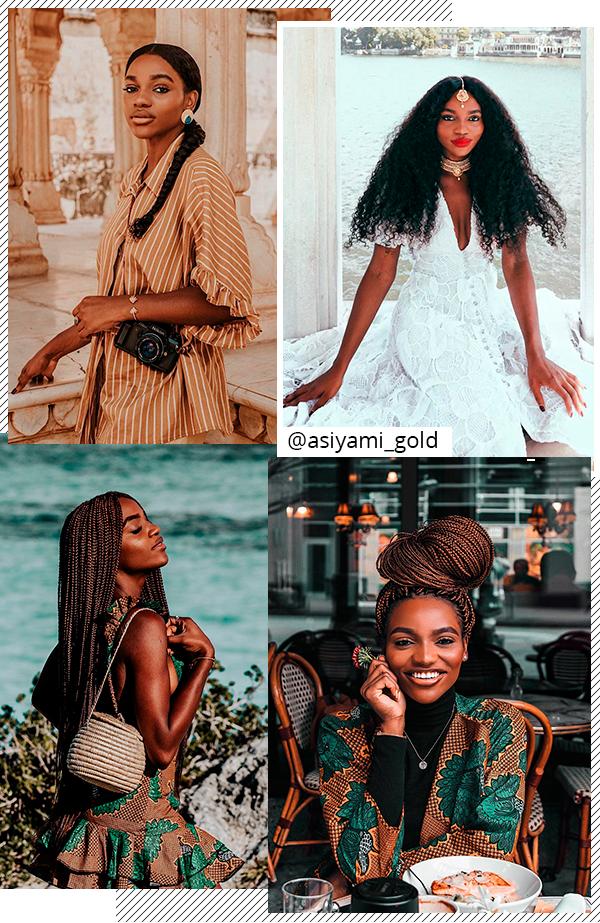 Asiyami Gold - cabelos - tranças - todas - Instagram