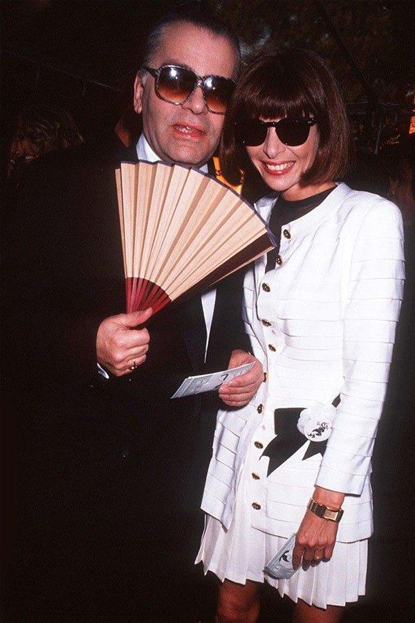 Karl Lagerfeld, Anna Wintour - chanel fendi chloe - estilista - --- - paris