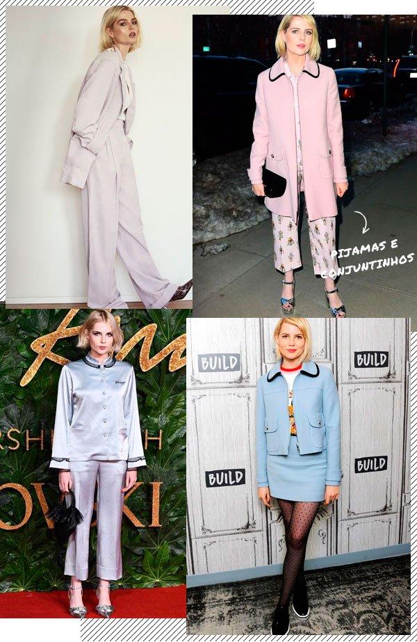 Lucy Boynton - pijama - pijama - inverno - street-style