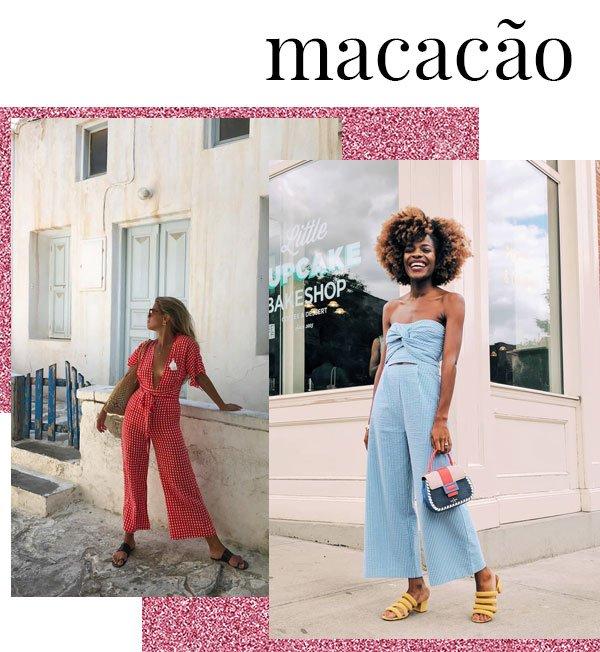 Frédérique Harrel e Matilda Djerf - macacão-longo - macacão-longo - verão - street style 2019