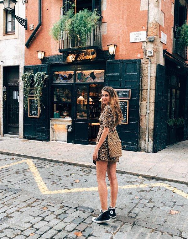 Manuela Bordasch - vestido-animal-print-all-star - All Star - verão - street style 2018