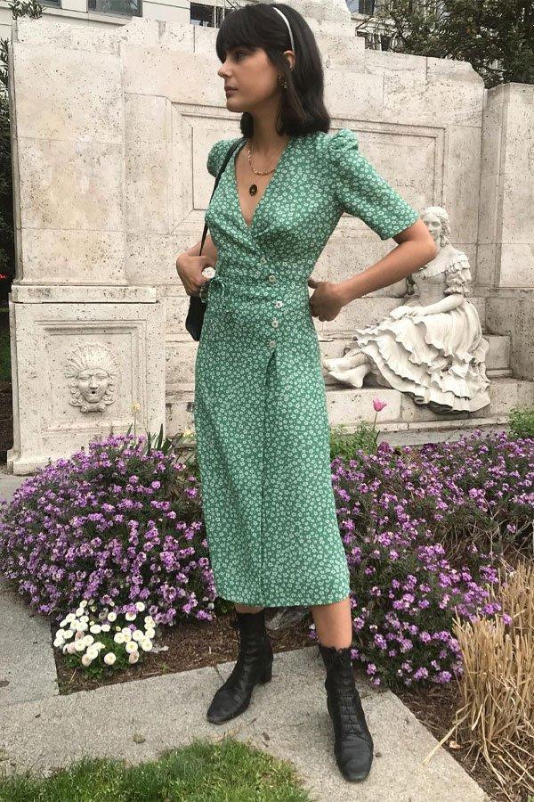 María Bernad - vestido - bota - meia-estação - street style