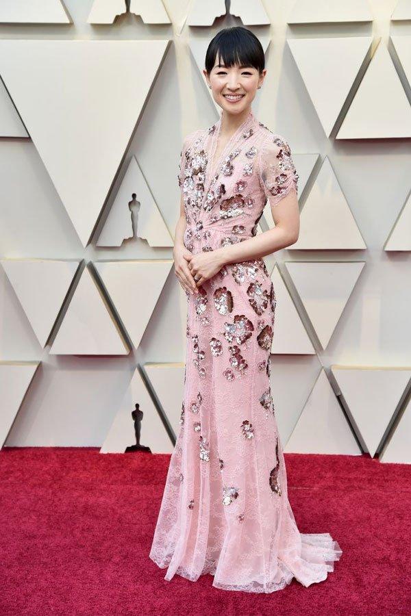 Marie Kondo - Vestido de festa - Jenny Packham - premiação - oscar 2019