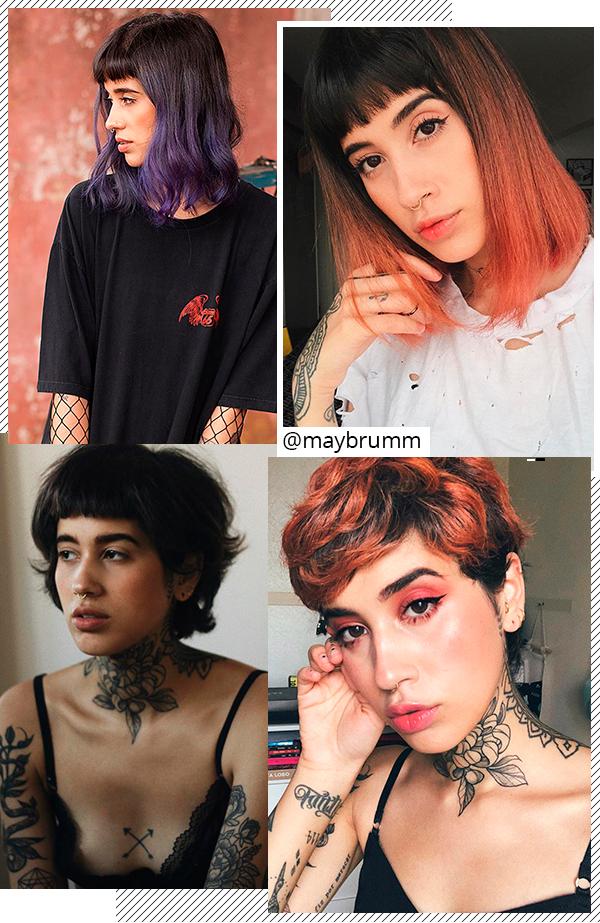 Mayara Brum - cabelos - curtos - todas - Instagram