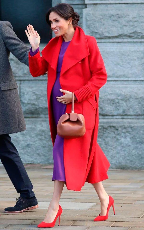 Meghan Markle - casaco-vermelho - vermelho - inverno - street-style