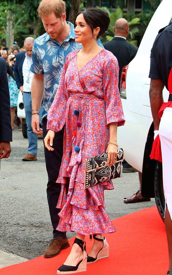 Meghan Markle - vestido-estampado - vestidos - verão - street-style