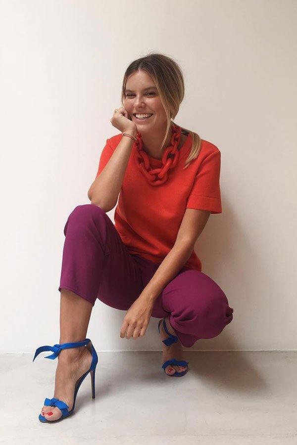 Nathalia Medeiros - shirt and pants - colorful - summer - street style