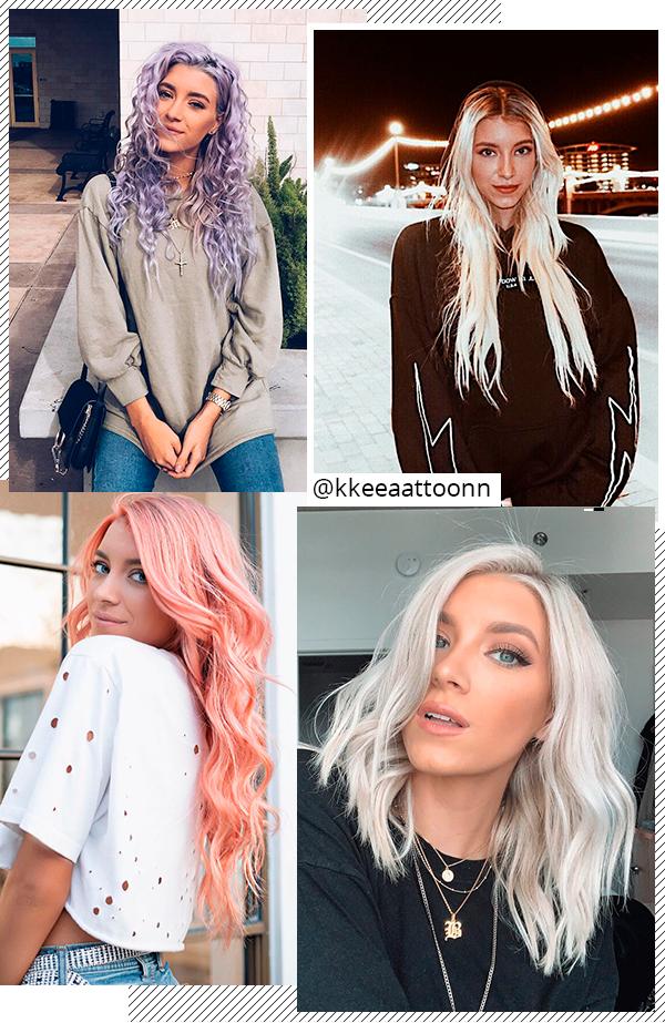 keaton milburn - cabelos - coloridos - todas - Instagram