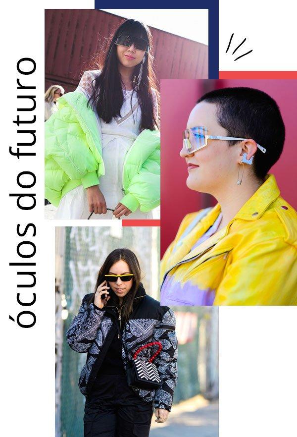 it-girls - óculos - óculos futurísticos - inverno - street style 2019
