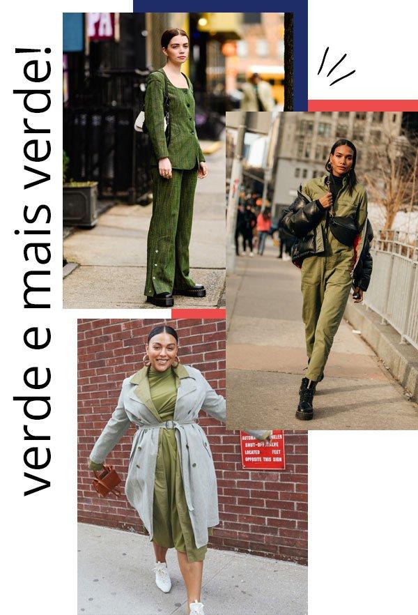 it-girls - verde - verde - inverno - street style 2019