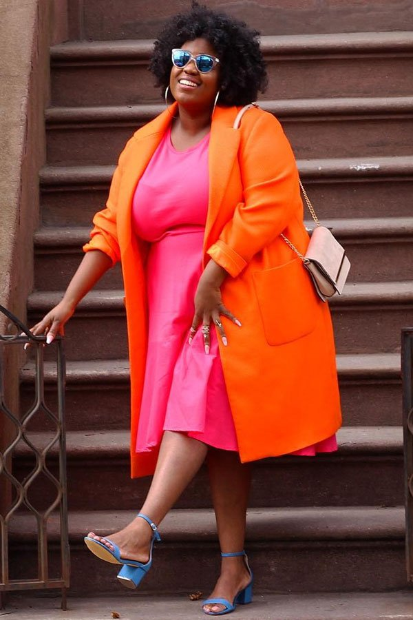 Peggy - dress and coat - colorful - autumn - street style