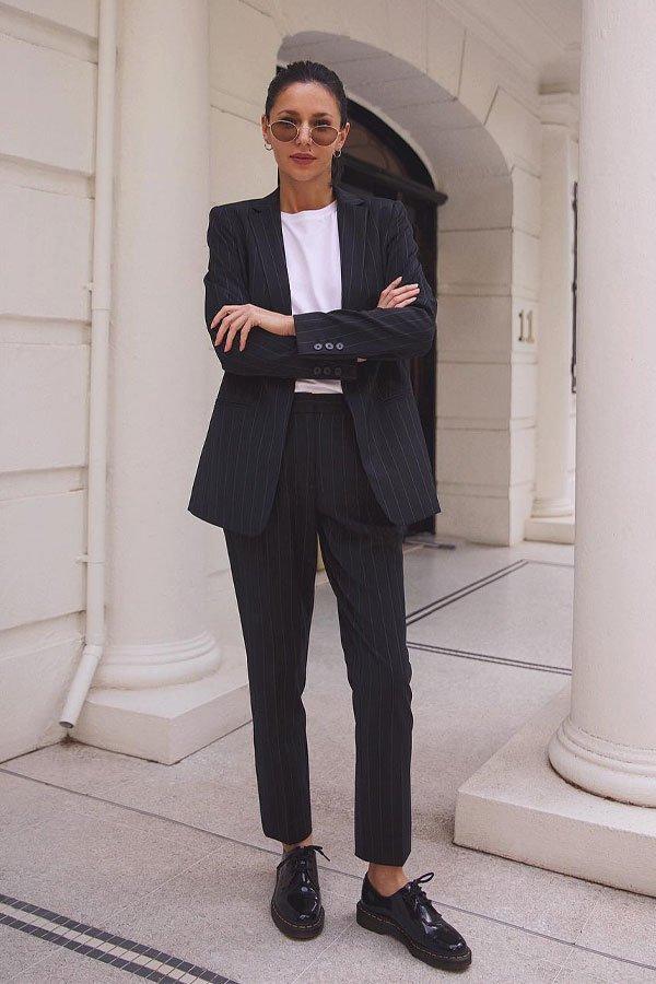 Petra - calça e blazer - terninho - meia-estação - street style