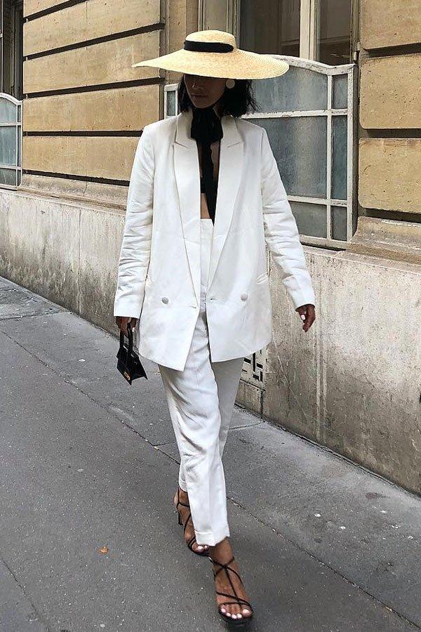 Pornwika - calça e blazer - terninho - verão - street style