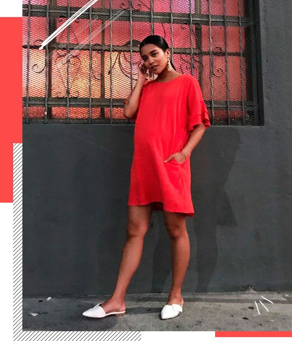 Carissa Alvarado - vestido-vermelho - grávidas - verão - street-style