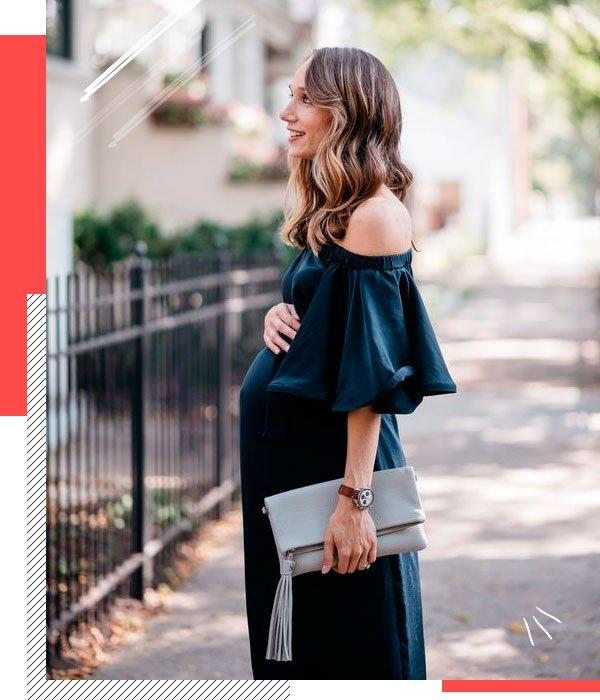 Blair Staky - vestido-preto - grávidas - verão - street-style