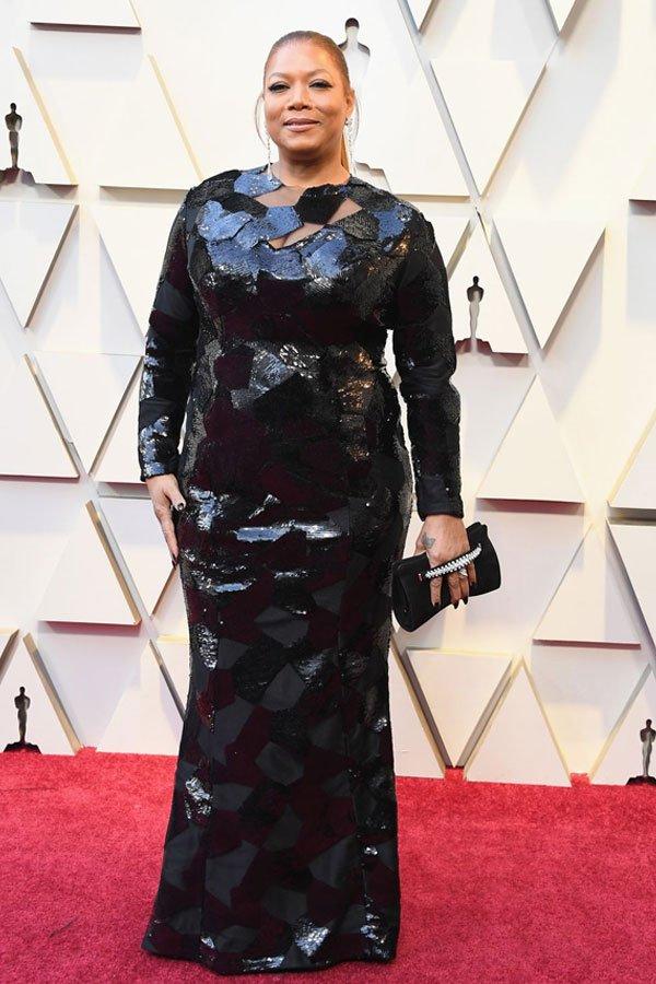 Queen Latifah - vestido - Michael Costello - premiação - oscar 2019