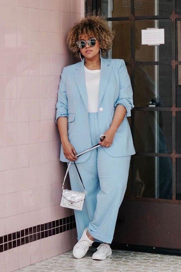 reprodução pinterest - calça e blazer - terninho - inverno - street style