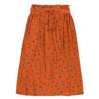 Midi Skirt Embossed In Viscose And Elastane Mesh