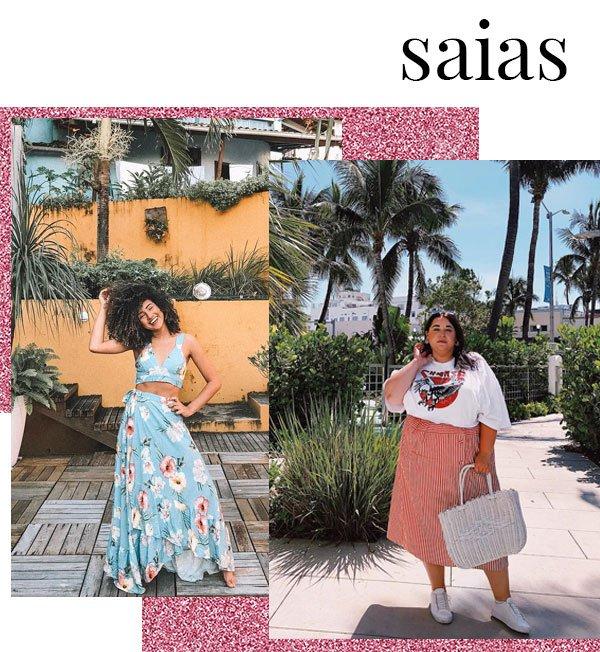 Danielle Vanier e Lore Souza - saia-longa - saia-longa - verão - street style 2019