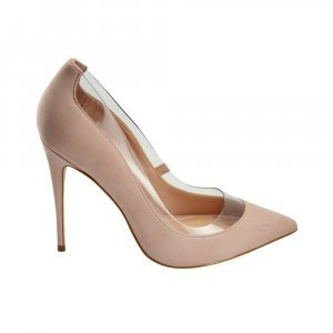 Scarpin Bella Leather Nude Pink