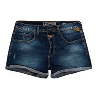 Shorts Jeans Stretch Cintura Alta