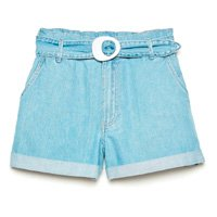 Short Jeans Mini Clochard Cintura Alta