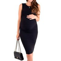 Beautiful Midi Pregnant Dress - Black